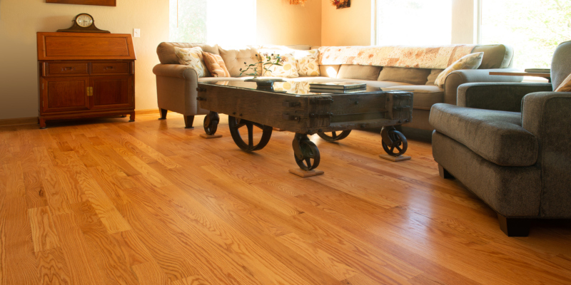 Red oak flooring is a common option for house owners