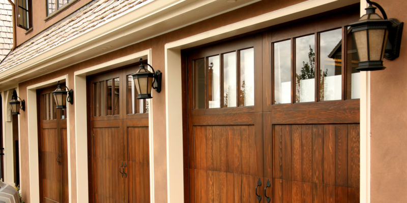 get some visual interest is with new garage doors