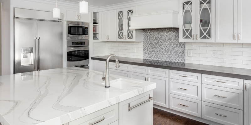 Granite kitchen countertops are very popular